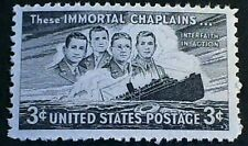 U.S. Scott 956- Four Immortal Chaplains, S.S. Dorchester- MNH OG 3c 1948