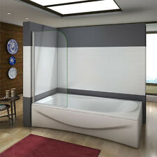 180° Pivot 800x1400mm Shower Bath Screen Over 5mm Glass Door Panel