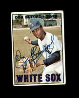 Don Buford Hand Signed 1967 Topps Chicago White Sox Autograph