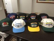 Lot Of 8 MLB Style World Cup 1994 Hats Argentina Brazil USA Netherlands Rare !!!
