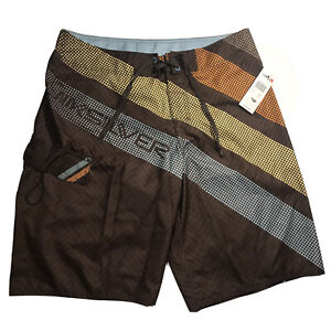 Quiksilver Men's Next Best Thing Boardshort Swim Trunks Brown Size 34