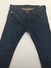 Diesel THAVAR Mens Jeans Skinny Slim Dark Blue Jeans Denim Wash 0842n W34 L32
