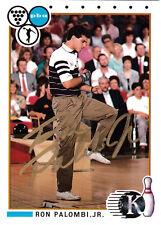 BOWLING Ron Palombi RARE 1991 Kingpins SIGNED CARD AUTOGRAPHED Bowler