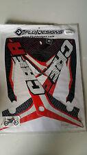 Flu Designs PTS Honda CRF250 CRF 250 Red Sticker Kit 2010-2013