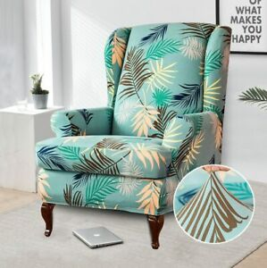 Wing Chair Slipcovers Covers Sofa Covers Flower Printed Furniture Protector