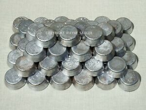 7 x Lead ingots per order for toy soldiers, fishing weights, sinkers, very clean