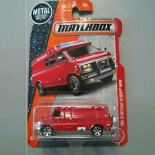 RED '95 Custom Chevy Van. SPARE TIRE. MBX Heroic Rescue. DVK19. New in Package!