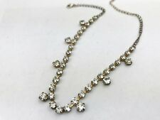 VINTAGE Incollare Set Ciondolo stile Art Deco look fancy Cluster Collana Catena
