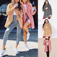 Winter Ladies Womens Warm Long Faux Fur Coat Jacket Parka Outerwear Overcoat