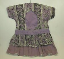 Vintage Purple Floral Dress Clothes Pin Bag with Clothes Pins