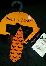 New Halloween Custom Skull & Bones For Cats And Dogs Polka Bat Dad'S Tie Xs-S