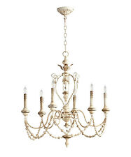 Florine French Country Cottage Chic Chandelier 6 Light  ~  05783 Cyan Design