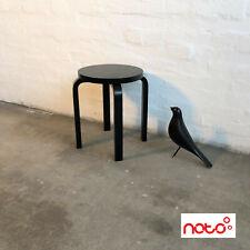 Artek 60 - Hocker - schwarz - Birke - gebrauchte Designmöbel