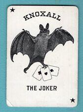 Single Swap Playing Card JOKER #P46 BAT KNOXALL ACORNS ANTIQUE RARE OLD VINTAGE