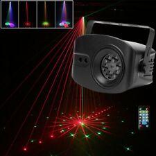 48 Muster Laser Bühnenlicht RGB LED Licht-Effekte Home Party Disco Sound Aktiv