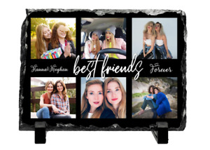 Personalised Photo Slate Frame 6 Photos  Collage Gift For  Friends Mum Dad