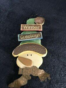 Winter Greetings Sign Indoor Outdoor Decoration