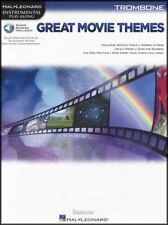 Great Movie Themes for Trombone Instrumental Play-Along Sheet Music Book/Audio