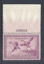 1938 Us Rw5 Migratory Bird & Hunting - Pintail Drake Duck - Plate Single Mnh Vf