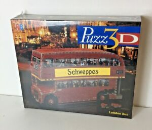 MB Puzz 3D London Bus 387 Piece 3D Jigsaw Puzzle #15543 New & Sealed Old Stock