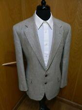 Mens Blazer Sport coat Jacket Canterbury 42r Cream Black Weave Silk & Wool S#163
