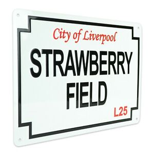 Strawberry Fields Street Sign Large Gift Souvenir