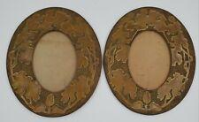 2 Vintage/Antique ARTS & CRAFTS Chased Picture Frame  Oval