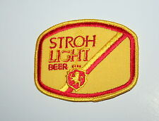 Vintage Stroh Light Beer Distributor Cloth Patch 1970s NOS New Yellow
