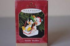 Hallmark Keepsake Sleddin' Buddies 1999 Peguin and Bear