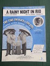 """Dennis Morgan-Janis Paige-Partitura Para La Canción - """"una noche lluviosa en Rio"""""""