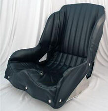 """KIRKEY RACING VINTAGE BUCKET SEAT & COVER,15"""",FOR CLASSIC MODIFIED,SPRINT CAR,ET"""