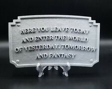 Main Street Entranceway Welcome Plaque Dl Inspired Sign - Hammered Silver Shade