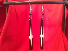 African-Arena Handmade Batik Tribal Maasai Cow Horn Bone Fashion Earrings AA20