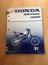 Official Honda XR200R Shop Manual '81