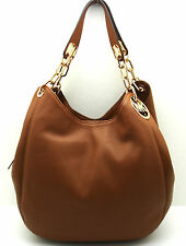 Authentic NWT MICHAEL KORS Fulton Large Shoulder Bag Pebble Leather Hobo Luggage