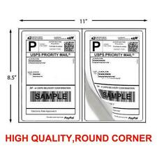 1000 Shipping Labels 85 X 55 Half Sheets Self Adhesive 2 Label Per Sheet