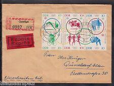 A 18) GERMANY DDR OTTIMO RACCOMANDATA-lettera 1964 ZD Olimpiadi Tokyo particolare Retro