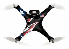Wrap/Skin For DJI Phantom 3 Pro/Adv Quadcopter/Drone | Spit Fire Black