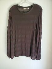 Cato black sheer womens sweater. 18/20.