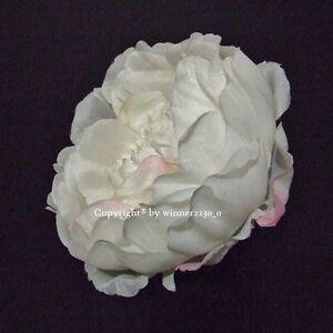 10 Top Quality WHITE Artificial Silk Peony Rose Flower Head DIY Wedding Decor