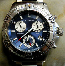Accutron by Bulova Curacao Chronograph Stainless Steel Mens Watch - 26B52