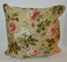 RALPH LAUREN Yorkshire Rose Green Floral Cream DECORATIVE PILLOW NEW $130