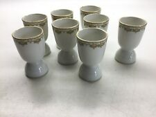 Antique Jean Pouyat Limoges 8 Egg Cups  Poy 60