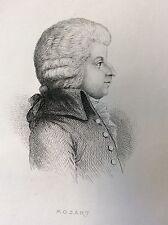 Wolfgang Mozart  (1756-1791) compositeur Musique
