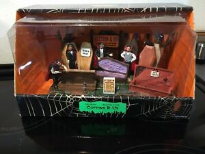 Lemax Spooky Town Halloween Collection Coffins R Us RIP Toys