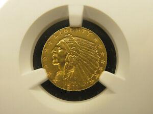 1911 D Indian 2.5 Dollar Gold Quarter Eagle NGC AU 58 Z618
