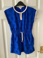 New CrewCuts Sleeveless Star Summer Dress, Blue, 6 Years, RRP £68