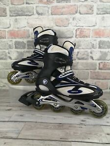 Airwalk Inline Skates Rollerblades White Blue Size Adult UK 7