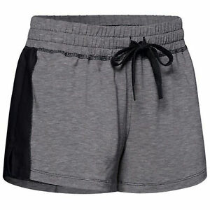 Under Armour Womens Athlete Recovery Sleepwear Shorts Grey Pants 1329479 002