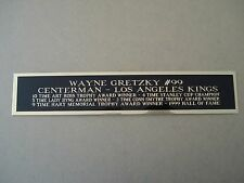 Wayne Gretzky Kings Engraved Nameplate For A Hockey Jersey Case 1.5 X 6
